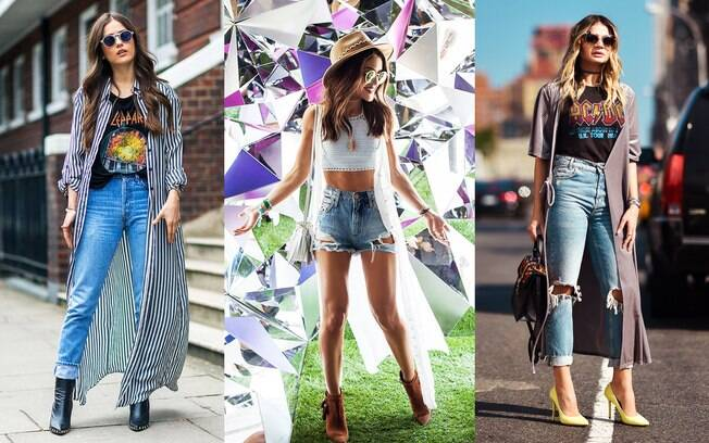 Truques de estilo: vestido longo que vira colete é ideal para um passeio casual