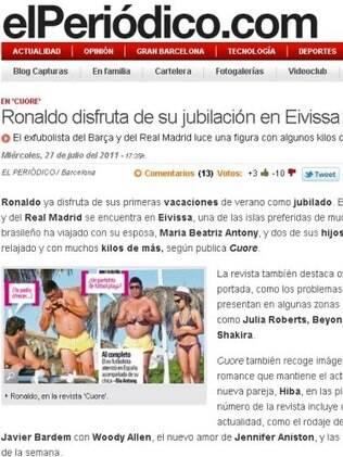 Ronaldo no jornal