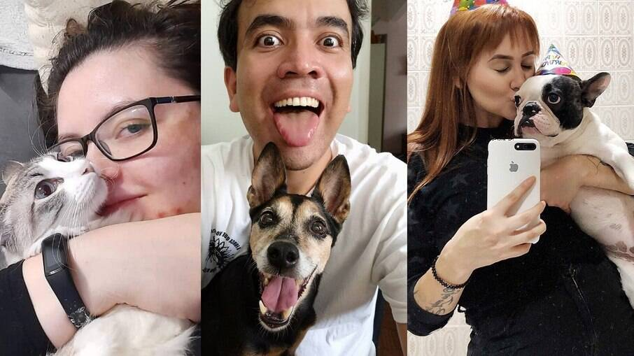 Ayumi, Lucas e Amanda são mães e pai de pet