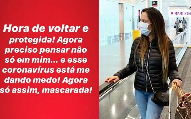 Renata Frisson, a Mulher Melão, se protege de Coronavírus
