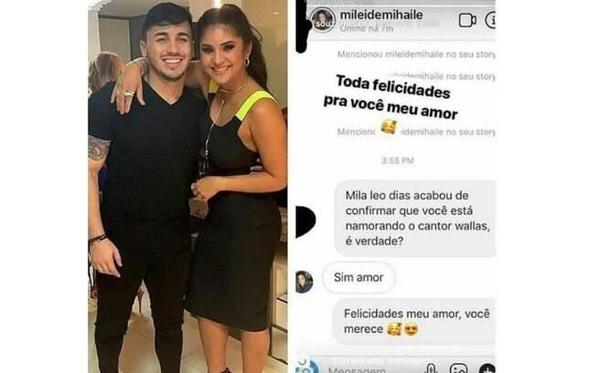 Mileide Mihaile assumiu romance com cantor