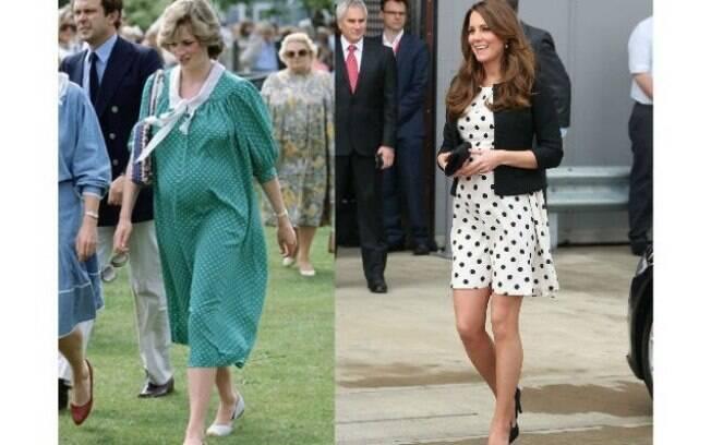 Kate exibiu a barriga de grávida em aparições públicas em abril, quando estava grávida de seis meses