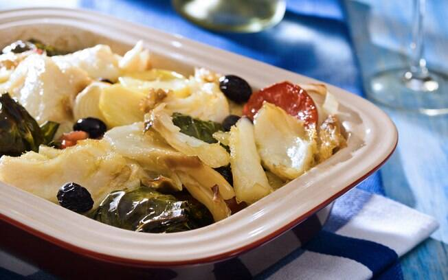 Foto da receita Bacalhau no forno pronta.