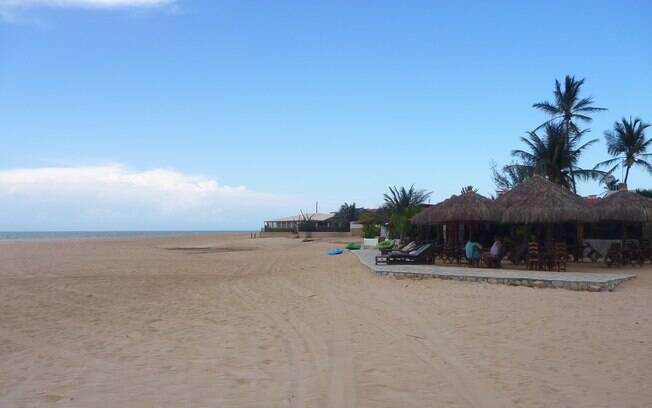 A beleza e tranquilidade da praia de Galinhos