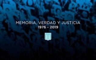 No Dia da Memória na Argentina, clubes relembram vítimas da ditadura de 1976