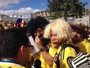 Colombianos homenageiam craques do passado