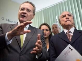 Renan Calheiros e Michel Temer