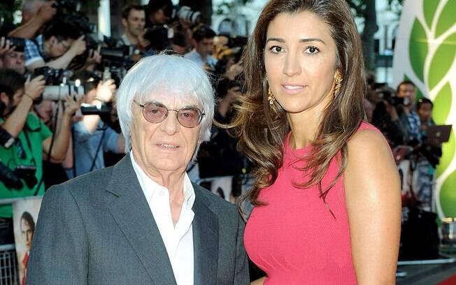Bernie Ecclestone%2C ex-chefão da F1%2C é casado com a brasileira Fabiana Flosi