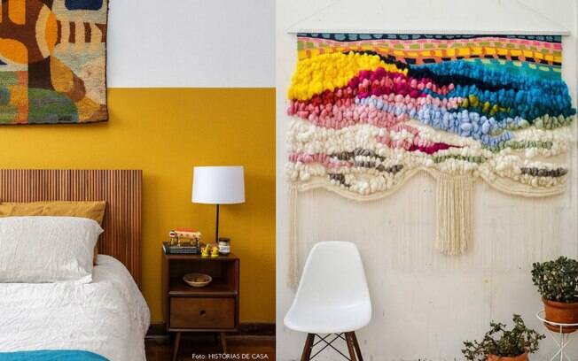 A arte têxtil também integra a lista de tendências de decoração; veja
