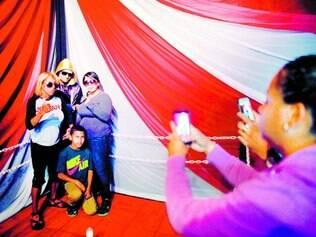 Novidade. Boxeador Christopher River foi colocado em um canto de um ringue para que sua família e amigos lembrassem de como ele viveu