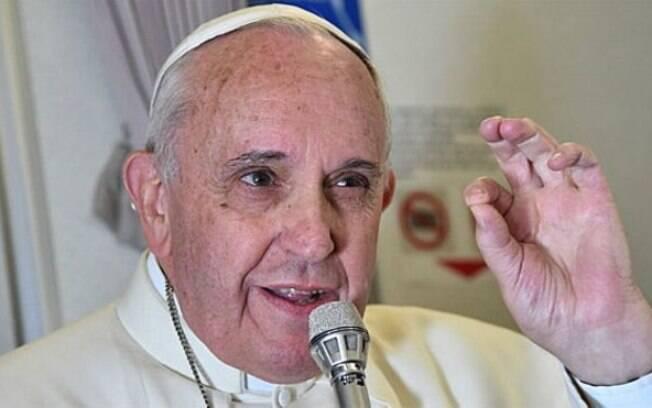Papa Francisco fez a declaração durante a viagem de volta para Roma, vindo de Manila