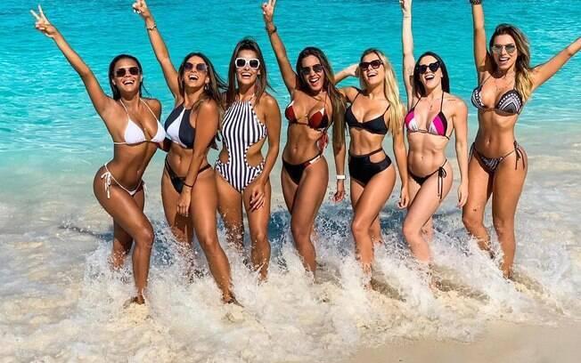Nathália Zannin, Tainá Grando, Yanca Guimarães, Tatiana Scarletti, Mayara Araújo, Gabrielle Cardoso e Erika Schneider