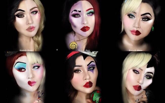 A influenciadora Kimberly Money fez uma sessão de fotos com suas criações de maquiagem
