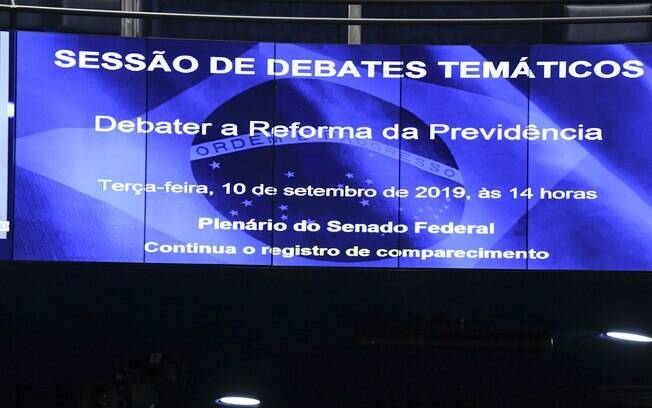 Painel do plenário do Senado