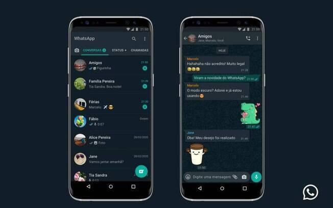 WhatsApp lança oficialmente o modo escuro