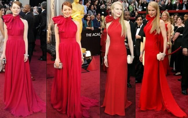 Emma Stone repetiu as escolhas feitas por Nicole Kidman para seu look no Oscar em 2007