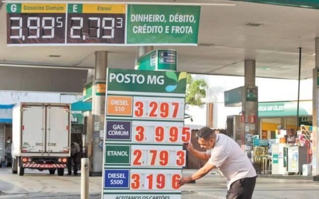 Preços dos combustíveis já subiram na maioria dos postos