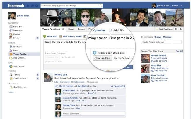 Usuários do Facebook ganham acesso a arquivos do Dropbox por meio da rede social