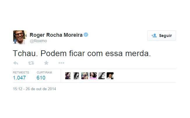 O músico Roger, do Ultraje a Rigor, provavelmente vai acompanhar Lobão na fuga do Brasil. Foto: Reprodução