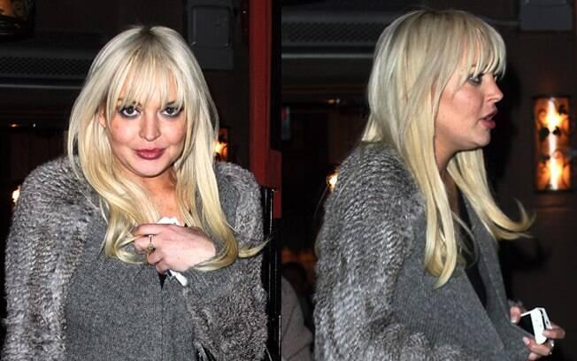 Lindsay Lohan e seu visual mais inchado