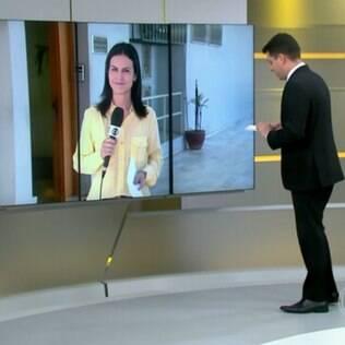 Evaristo Costa troca nome de repórter ao vivo