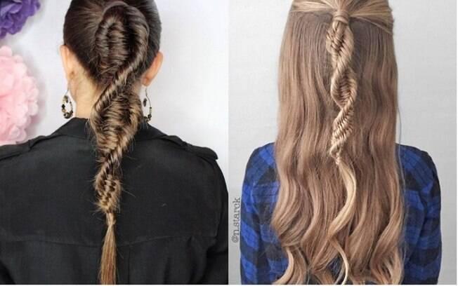 AS tranças no cabelo em formato de DNA passaram a ser compartilhadas por diversas profissionais de beleza nas redes