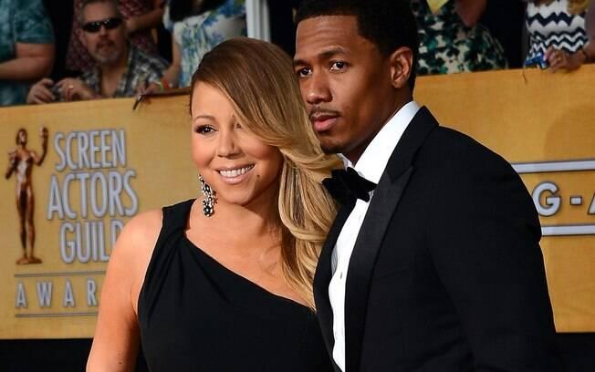 Mariah Carey com Nick Cannon quando ainda eram casados