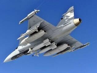 Caças Gripen são produzidos por empresa da Suécia
