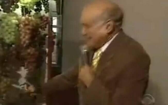 O repórter Lasier Martins foi eletrocutado na frente da câmera