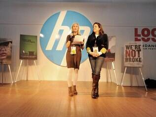 Meg Whitman (à esquerda): impressoras 3D fazem parte dos planos da HP para 2014