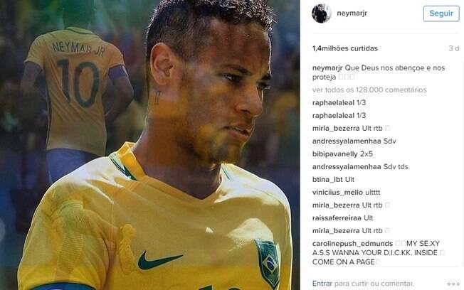 Neymar é uma das personalidades brasileiras com maior número de seguidores e likes nas fotos