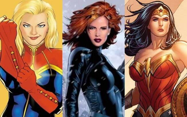 Mulher-Maravilha, Viúva Negra, Capitã Marvel e muitas outras super-heroínas representam mulheres empoderadas