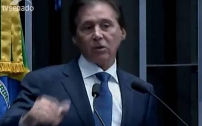 Eunício fala suas propostas como candidato à presidência do Senado