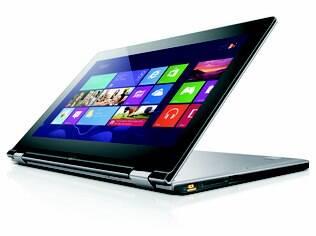 ThinkPad Yoga possui apenas 19,4 mm de espessura e pode ser usado nos modos Notebook, Tablet, Calendário e Apresentação