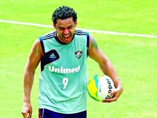 Oportunidade. O atacante Fred quer fazer muitos gols, eliminar o jogo de volta e encantar Felipão