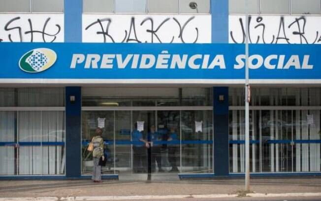 Agência do INSS fechada