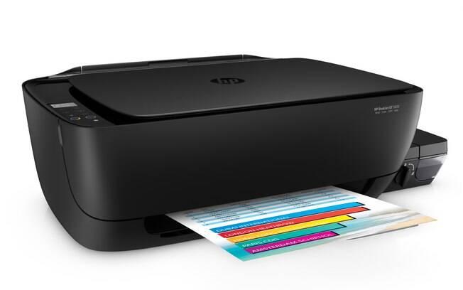 Impressora da HP promete cinco mil páginas com o frasco de tinta preto; frascos coloridos levam número para oito mil