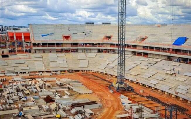 Arena da Amazonia já tem 53% de suas obras  prontas em fevereiro