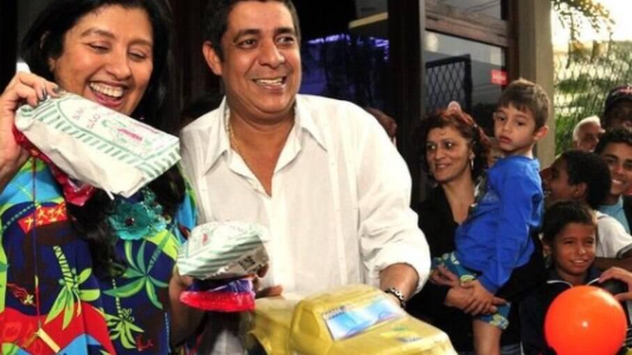 Regina Casé postou lembrança com Zeca Pagodinho