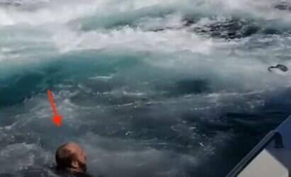 Homem é quase engolido por baleia durante passeio