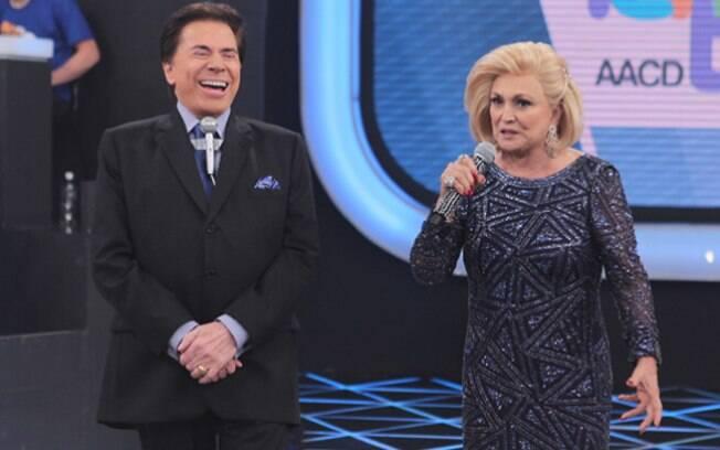 Silvio Santos e Hebe Camargo
