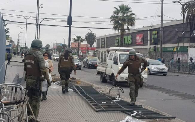 Exército reprimiu violentamente protestos no Chile