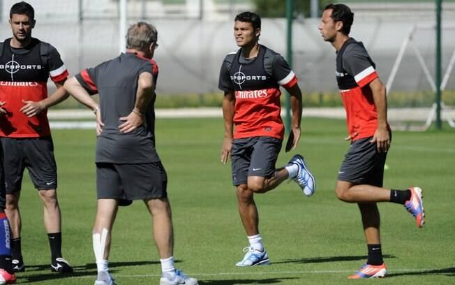 Primeiros treinos físicos de Thiago Silva no  PSG