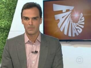 Ao invés da matéria, os apresentadores Tadeu Schmidt e Renata Vasconcellos leram o comunicado de proíbição ao vivo