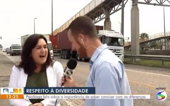 Cena da entrevista da Globo