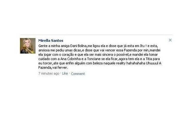 Post de Mirella Santos