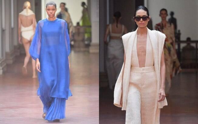 Na SPFW, os tecidos mais leves e fluidos e feitos de materiais naturais chamaram atenção no desfile de Lenny Niemeyer