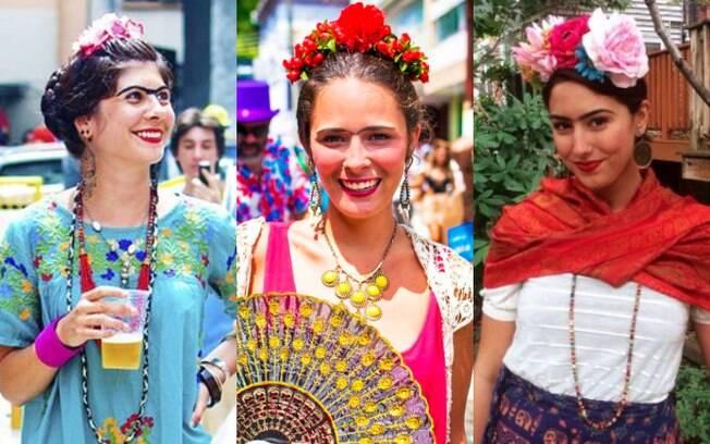 Fantasias de carnaval: uma tiara de flores e batom vermelho podem ser o bastante para te deixar parecida com Frida Kahlo