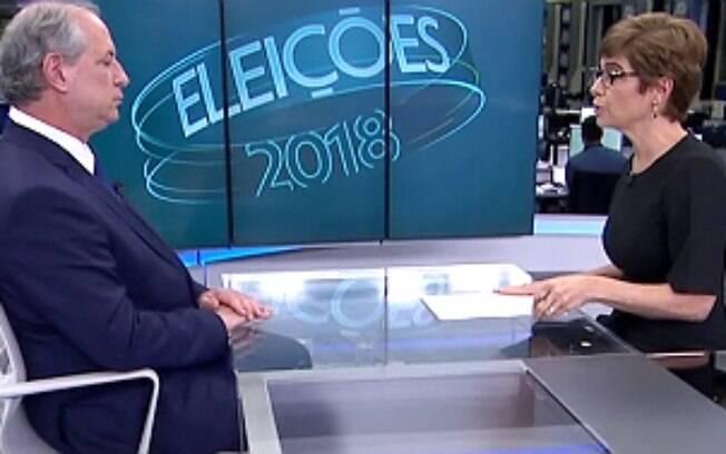 Candidato Ciro Gomes voltou a defender proposta de limpar o nome de pessoas endividadas