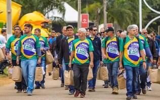 Manifestação em apoio a Bolsonaro marca maior feira agropecuária do País
